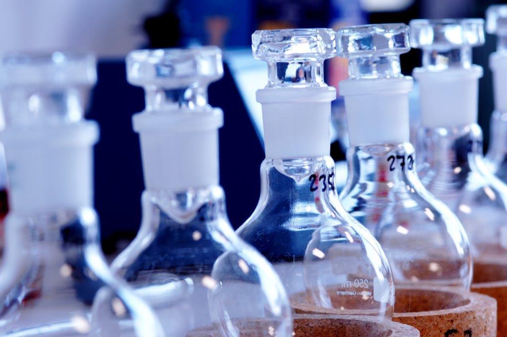 Glasverpackung Labor
